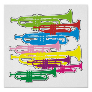 Trumpets Colours Poster