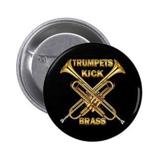 Trumpets Kick Brass 6 Cm Round Badge