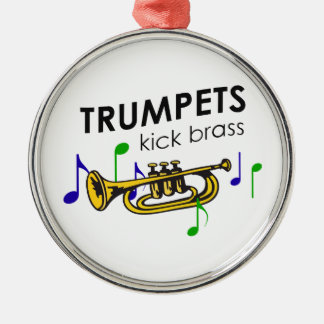 TRUMPETS KICK BRASS METAL ORNAMENT