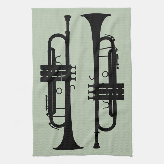 Trumpets Tea Towel