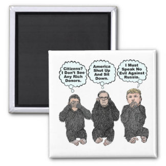 Trump's Monkeys - Trump, Ryan, McConnell Magnet