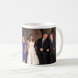 Trumps & Netanyahus At Yad Vashem In Jerusalem Coffee Mug