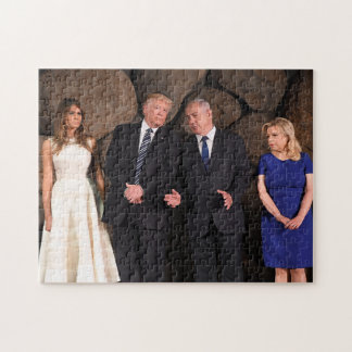 Trumps & Netanyahus At Yad Vashem In Jerusalem Jigsaw Puzzle