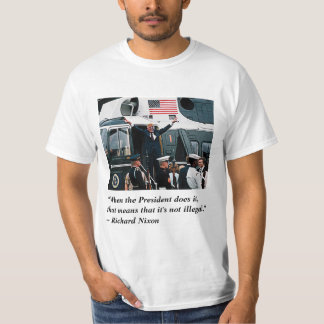 Trump's Nixonian Resignation Departure T-Shirt