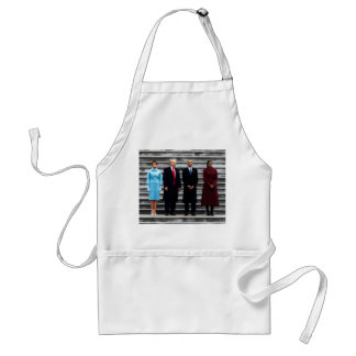 Trumps & Obamas On Inauguration Day Standard Apron