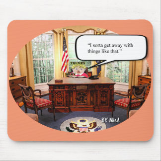 Trumpy Baby in Office - Mouse Pad