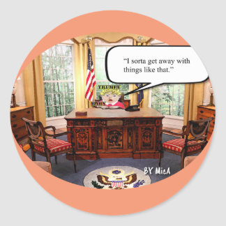 Trumpy Baby - Oval Office  - Stickers- Sheet of 20 Classic Round Sticker