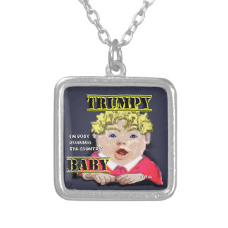 Trumpy Baby Silver Plated Necklace  Square