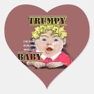 Trumpy Baby - Stickers - Heart 1½ in (sheet of 20)