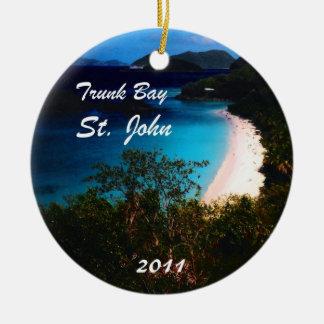 Trunk Bay, St. John  2011 Christmas Tree Ornament