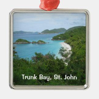Trunk Bay, St. John Metal Ornament