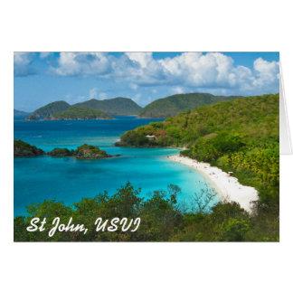 Trunk Bay, St John USVI Greeting Card