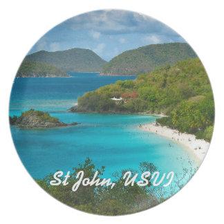 Trunk Bay, St John USVI Plate