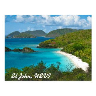Trunk Bay, St John USVI Postcard