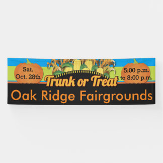 Trunk or Treat Corn and Pumpkin Fall Harvest Banner