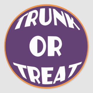 Trunk or Treat Event Stickers