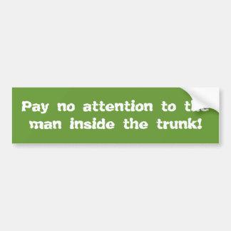 trunk racket bumper sticker