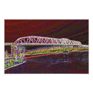Truss Bridge Over The Missouri River Photo