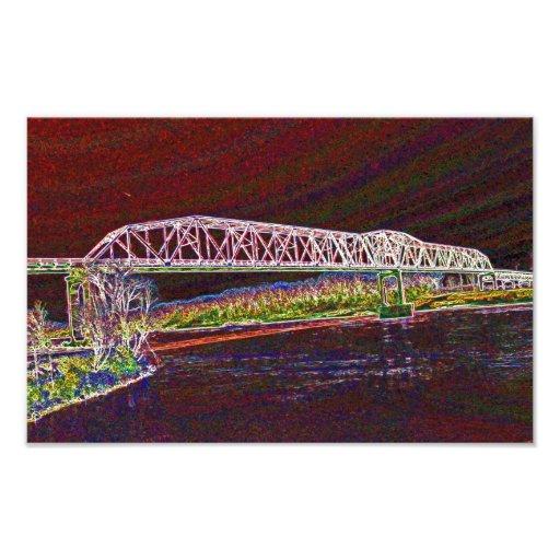 Truss Bridge Over The Missouri River Photographic Print