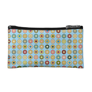"""Trusses of make-up small size """"Flowers """" Cosmetic Bag"""