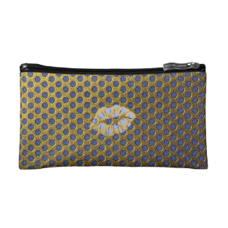 "Trusses of make-up small size ""Gold Lips "" Cosmetic Bag"