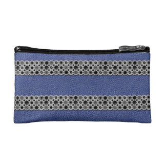 Trusses of make-up small size Jeans and metal Cosmetics Bags