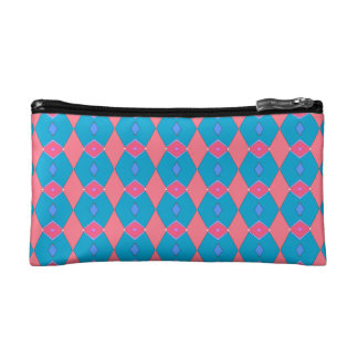 Trusses of small size, blue and pink make-up makeup bag