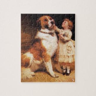 Trust by Charles Burton Barber, Saint Bernard dog Jigsaw Puzzle