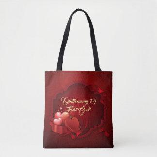 Trust God All-Over-Print Tote Bag, Medium