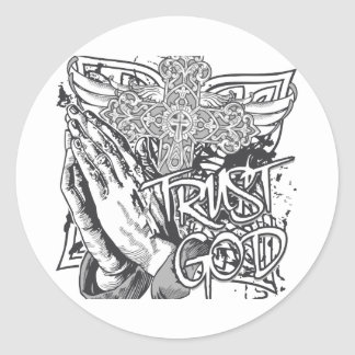 Trust God Classic Round Sticker