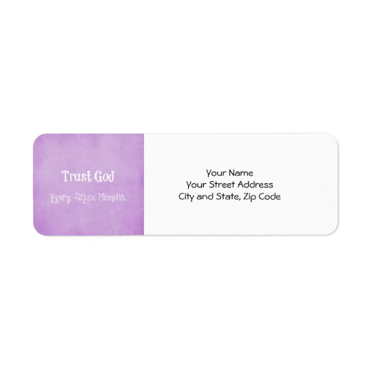 Trust God Quote Return Address Label
