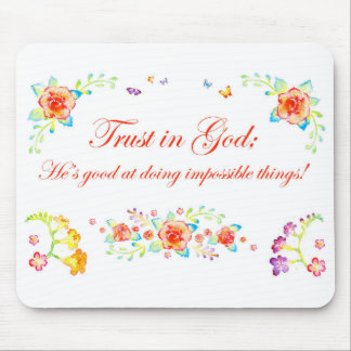 Trust in God Mouse Pad