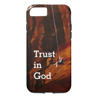 Trust in God Rock Climbing Phone Case