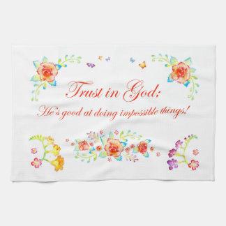 Trust in God Tea Towel