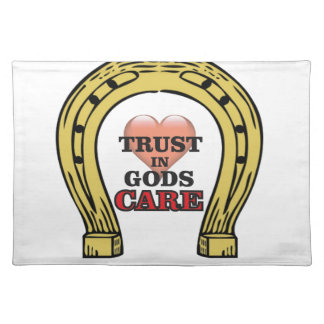 trust in Gods care heart Placemat