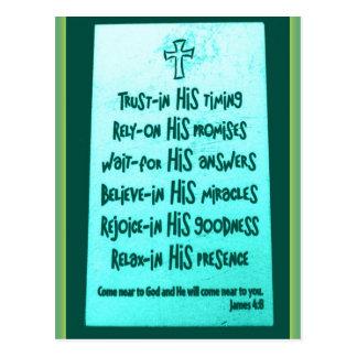 Trust in him Postcard