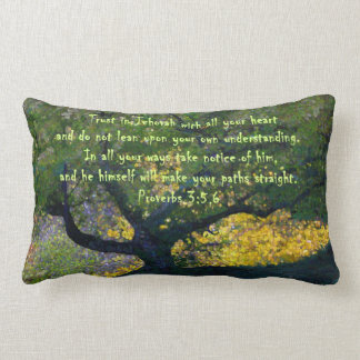 """""""Trust in Jehovah with all your heart..."""" Lumbar Cushion"""