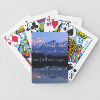 Trust in me in times of Trouble Psalms 50:15 Bicycle Playing Cards