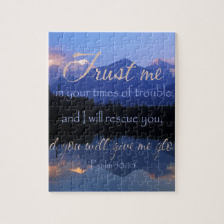 Trust in me in times of Trouble Psalms 50:15 Puzzles