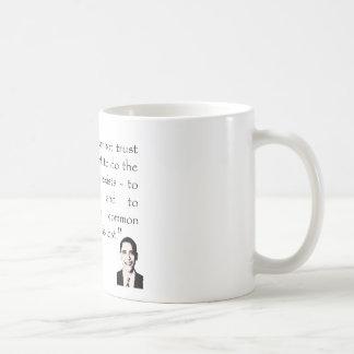 Trust in the government, Barack Obama Coffee Mug