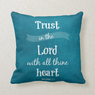 Trust in the Lord Bible Verse Cushion