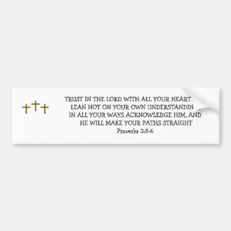 TRUST IN THE LORD BUMPER STICKER