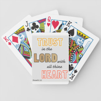trust in the Lord proverbs scripture Bicycle Playing Cards