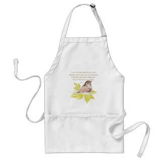 Trust in the Lord Scripture with Watercolor Bird Aprons