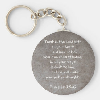 Trust in the Lord with all your heart...Proverbs 3 Key Ring