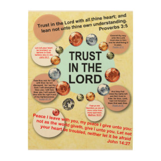 Trust In The Lord Wood Art Bible Verses Christian Wood Print