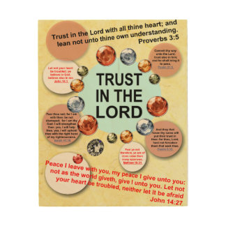 Trust In The Lord Wood Art Christian Scriptures Wood Prints