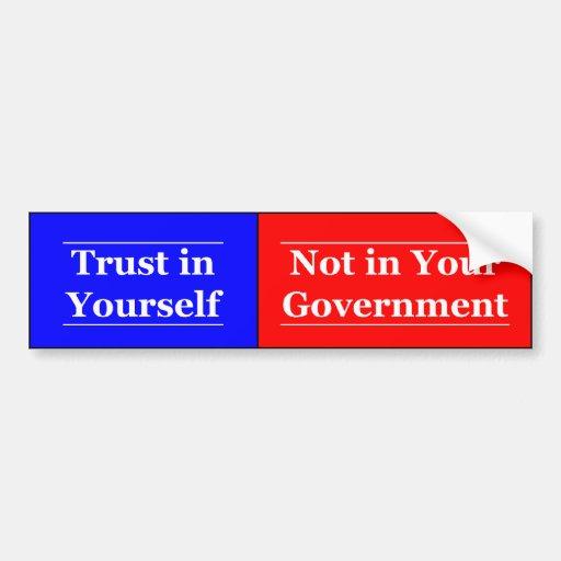 Trust in Yourself Bumper Stickers