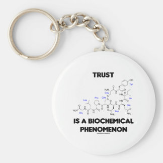Trust Is A Biochemical Phenomenon (Oxytocin) Basic Round Button Key Ring