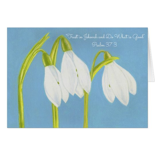 Trust Jehovah-Do Good~Black Eyed Susans Card